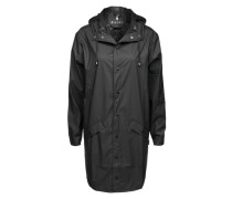 Long-Mantel mit Kapuze schwarz