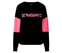 Sweatshirt pink / schwarz