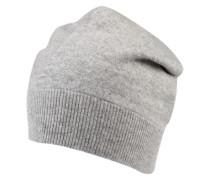 Mütze in Strickoptik grau