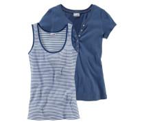 Set: Shirt + Tanktop blau