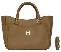 Handtasche 'TH Twist Leather Tote' hellbraun