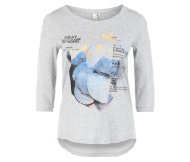 Shirt mit Artwork-Print grau