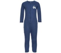 Druckknopf-Schlafanzug 2er-Pack nachtblau / opal