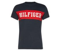 T-Shirt mit Logo-Print anthrazit / rot / weiß