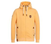 Male Zipped Hoody Schwarzkopf gelb