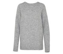 Pullover mit Merino und Alpaka graumeliert