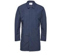 Wasserfester Mantel blau