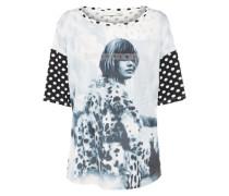 Muster T-Shirt schwarz / weiß