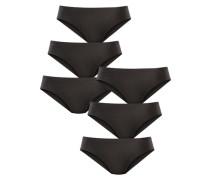 Hüftslip (6 Stck.) schwarz