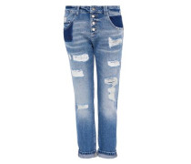 Boyfriend-Jeans im Destroyed-Look