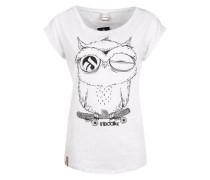 T-Shirt 'Skateowl 2' schwarz / offwhite