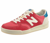 Sneaker 'crt300' beige / himmelblau / rot