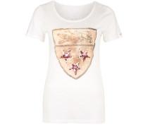 T-Shirt 'wappen' weiß