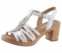Sandalette hellbraun / weiß
