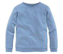Sweatshirt mit klassischem Rundhalsausschnitt für Mädchen blau