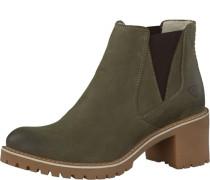 Chelsea Boots mit Blockabsatz grün