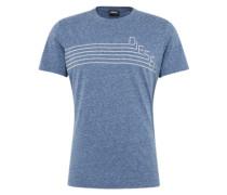 T-Shirt 't-Joe-Qf' in Melange-Optik rauchblau