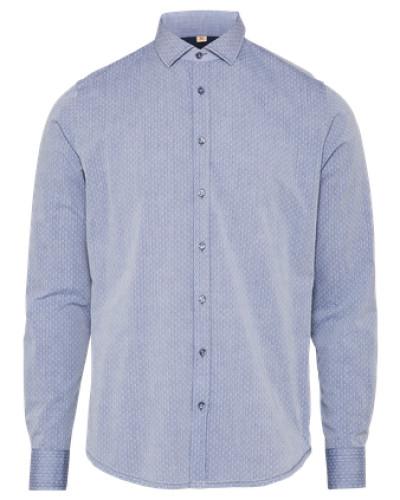 Business Hemd 'Pointed' marine / weiß
