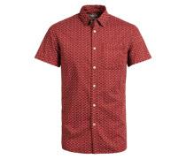Bedrucktes Kurzarmhemd rot