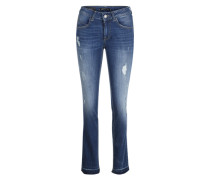Destroyed-Jeans 'Bambi straight' blau