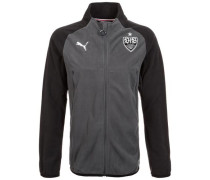 'VfB Stuttgart' Fleece Trainingsjacke Herren grau / schwarz