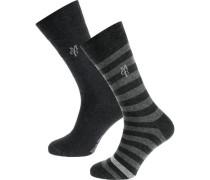 Swen 2 Paar Socken grau / schwarz