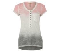 Strickshirt 'Desiree' grau / rosa / offwhite