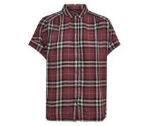 Kariertes Kurzarmhemd rot / schwarz / weiß