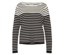 Streifen-Pullover 'Lisi' weiß / schwarz