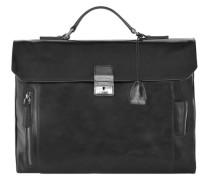Passpartout Aktentasche Leder 40 cm schwarz