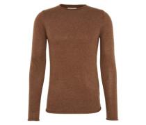 Pullover 'knit' braun
