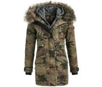 Mantel 'freja With Inner Jacket' brokat / khaki