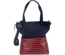 Handtasche nachtblau / rot