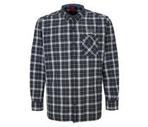 Baumwollhemd mit Karos blau / schwarz