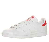 Flacher Sneaker aus Leder 'Stan Smith' rot / weiß