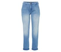 Slim-Fit Chinohose blau