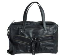 Leder-Reisetasche schwarz