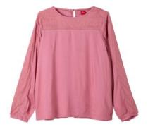 Bluse mit Mesh-Einsätzen pink