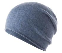 Mütze aus Kaschmir blaumeliert