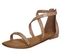 Riemchen-Sandalette gold