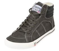 Gefütterter Sneaker High grau