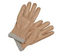 Leder-Handschuhe hellbraun