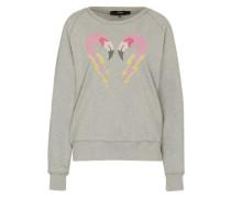 Sweatshirt 'Sven' gelb / grau / rosa