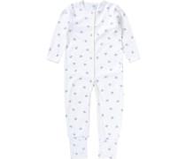 Schlafstrampler für Jungen Organic Cotton blau / weiß