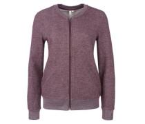 Sweatshirt-Jacke mit Glitzergarn rot