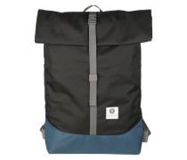 Rucksack 'Postal' blau / schwarz