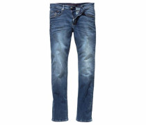 Straight-Jeans »Liam (Stretch)« blue denim