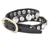 Bracciali Armband Leder 43 cm schwarz
