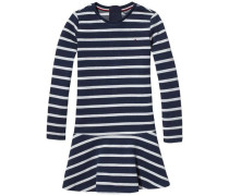 Kleid 'ame Stripe HWK Dress L/s' navy / weiß