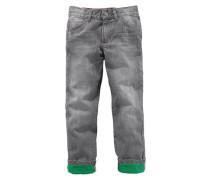 ARIZONA Jeans mit farbigem Umschlag, Regular fit, für Jungen grau